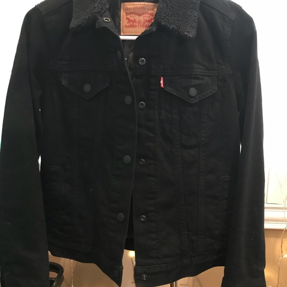 Black Rain Sherpa Thermore® Down Alternative Trucker Jacket
